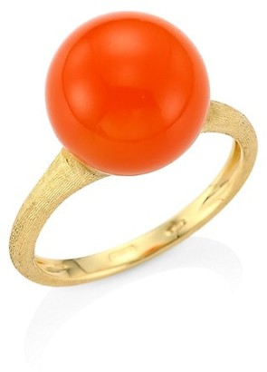 Marco Bicego Africa 18K Yellow Gold & Carnelian Cocktail Ring