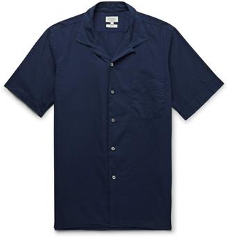 Hartford Slim-Fit Camp-Collar Cotton-Poplin Shirt - Men