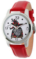 Disney Princess Disney Womens Alice In Wonderland Red Queen Strap Watch Family