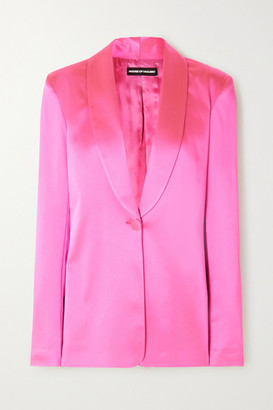 House of Holland Oversized Satin-crepe Blazer