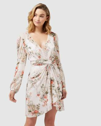 Forever New Darcy Long Sleeve Printed Dress
