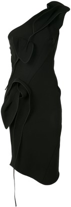 Maticevski One Shoulder Sculpted Detail Dress