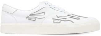 Amiri Flame Low Lace-Up Canvas Sneakers
