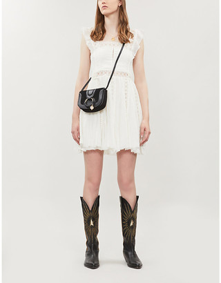 Free People Verona ruffle-trimmed cotton mini dress