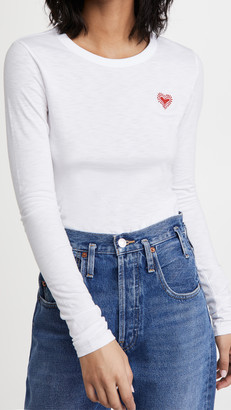 Rag & Bone/JEAN Embroidered Heart Long Sleeve