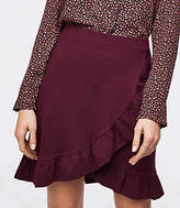 LOFT Ruffle Wrap Skirt