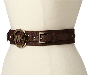 MICHAEL Michael Kors 42mm Belt with/ Snap Closure And Tab with/ MK Logo