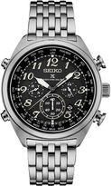 Seiko Solar Chronograph Mens Silver Tone Bracelet Watch-Ssg017