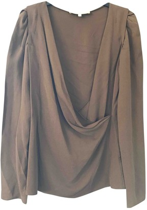 Vanessa Bruno Khaki Silk Top for Women