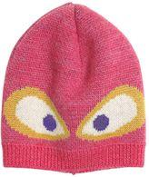 Fendi Monster Jacquard Knit Wool Hat
