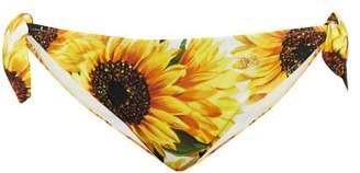 Dolce & Gabbana Sunflower Print Tie Side Bikini Briefs - Womens - Yellow Print