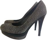 Balmain Grey Suede Heels