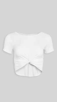 Beyond Yoga Dont Get It Twisted Reversible Cropped Tee