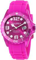 Haurex Italy Women's Ink Rubber Band Aluminum Watch 1K374DP3