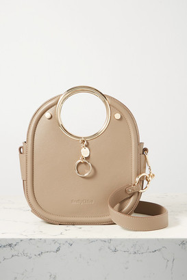 See by Chloe Mara Small Textured-leather Tote - Taupe