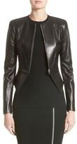 Michael Kors Women's Lambskin Leather Peplum Jacket