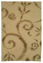 Martha Stewart Damask Vine Raw Umber Silk/ Wool Rug (5' 6 X 8' 6)