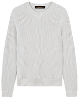 Jaeger Chainmail Tuck Stitch Cotton Jumper