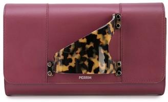 Perrin Paris tortoiseshell handle clutch