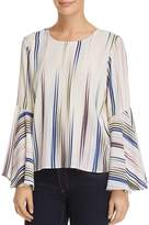 Vince Camuto Bell-Sleeve Printed Blouse