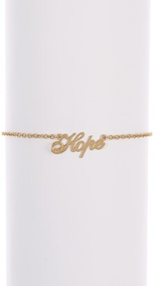Melanie Marie Gold Plated Script Anklet