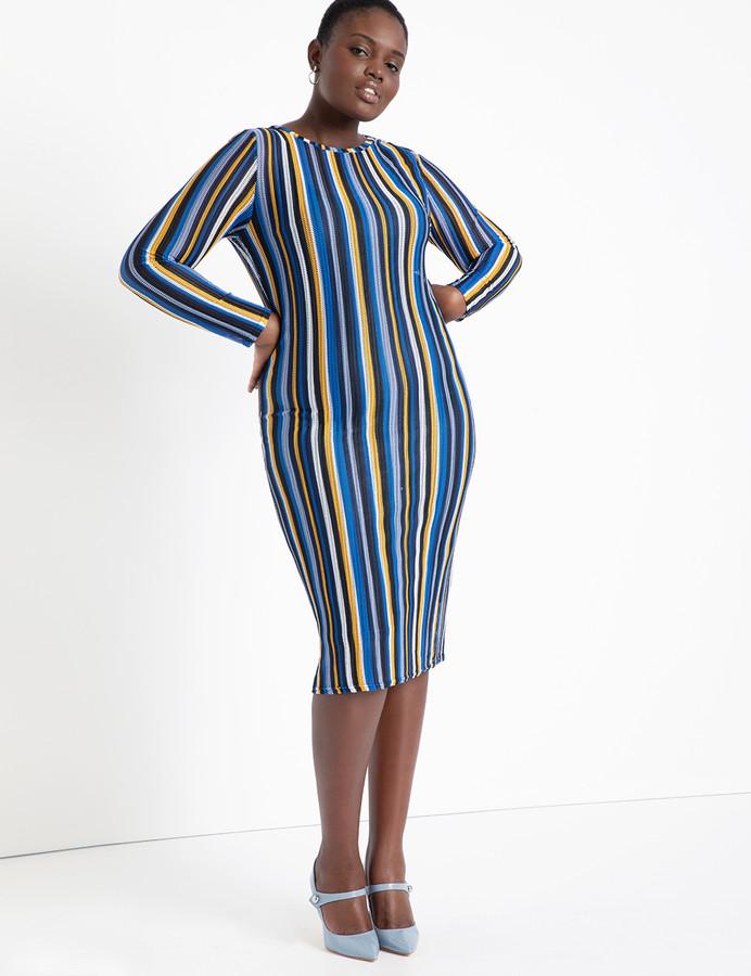 Eloquii Striped Bodycon Dress
