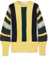 black and yellow striped sweater - ShopStyle