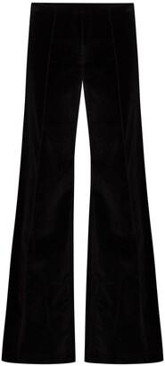 NACKIYÉ Velvet Effect Flared Trousers