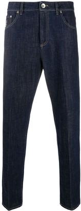 Brunello Cucinelli Dark Wash Straight Leg Jeans