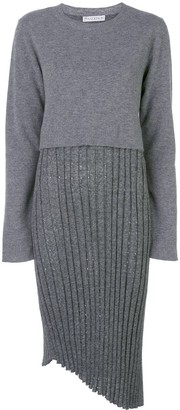 J.W.Anderson Two-Layer Pleated Dress