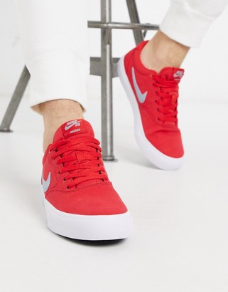 Nike SB Charge Canvas sneakers in red