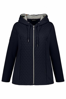 Ulla Popken Women's Sweatshirtjacke mit Diamond Stitching Detail Sweatshirt