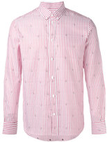 MAISON KITSUNÉ striped shirt - men - Cotton - 40