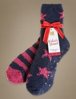 Marks and Spencer 2 Pack Star Cosy Socks with Grippers