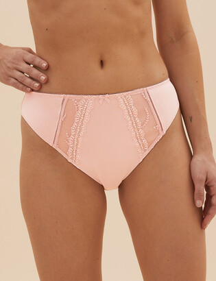 Marks and Spencer 5 Pack Embroidered High Leg Knickers