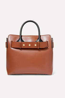 Burberry Small Belted Leather Tote - Brown