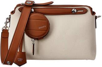 Fendi By The Way Medium Canvas & Leather Shoulder Bag