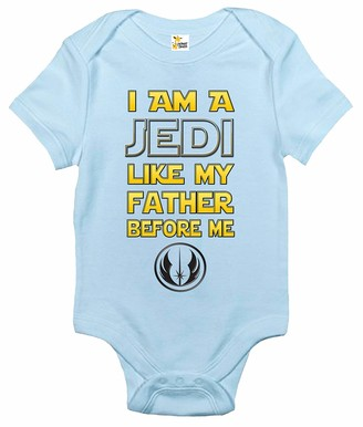 Rapunzie Baby Bodysuit - I Am a Jedi Like My Father Before Me Baby Clothes for Infants - black - 6-12 months
