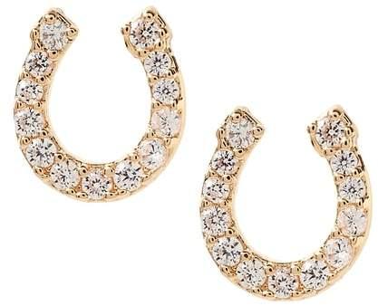 Banana Republic Pave Horse Shoe Stud Earring
