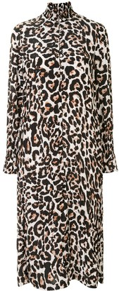 Baum und Pferdgarten Aeverie leopard-print shirt dress