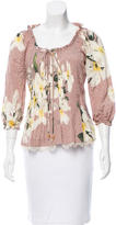 Blumarine Silk Floral Top