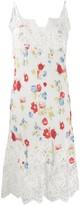 Ermanno Scervino floral print slip dress