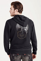 True Religion Zip Up Studded Skull Mens Hoodie
