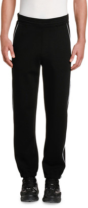 Neil Barrett Men's Knit Jogging Pants with Piping