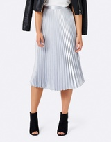 Forever New Harriet Satin Pleated Midi Skirt