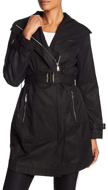 T Tahari Evelyn Belted Trench Coat