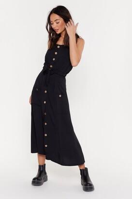 Nasty Gal Womens Good Button You Midi Skirt - Beige - 6, Beige