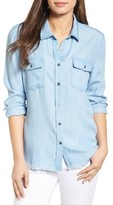 RD Style Women's Frayed Chambray Shirt