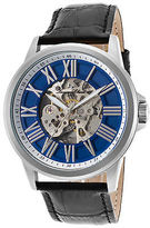 Lucien Piccard 12683A-03 Men's Calypso Automatic Black Genuine Leather Blue