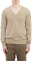Tomas Maier Men's Distressed-Neck Knit Sweater
